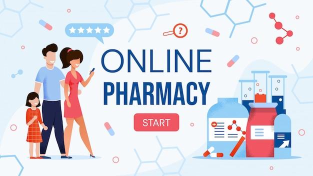 Site de comércio eletrônico on-line loja design plano Vetor Premium