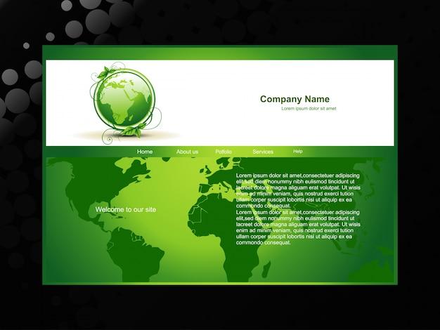 Site ecologicamente ecológico verde Vetor grátis