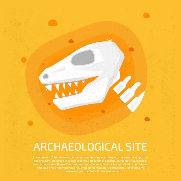Sítio arqueológico Vetor Premium