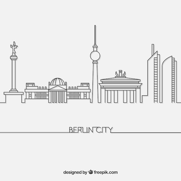 Skyline de berlim Vetor grátis