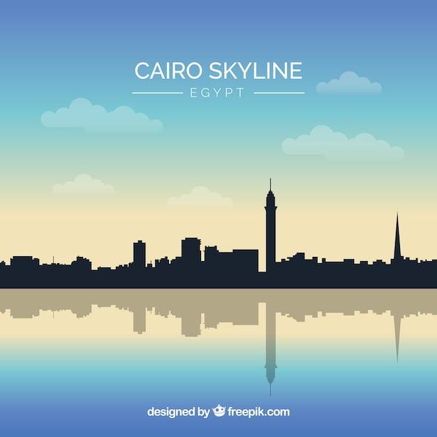 Skyline do cairo Vetor grátis
