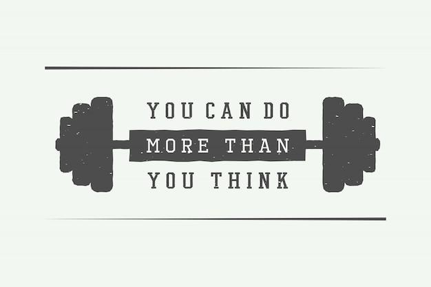 Slogan com motivação Vetor Premium