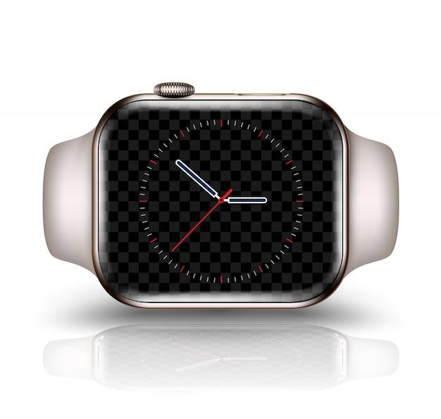 Smart watch mockup ilustração vetorial realista para elemento de tecnologia Vetor Premium