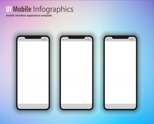 Smartphone com tela em branco, dispositivo de próxima geração Vetor Premium