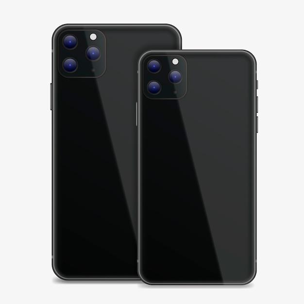 Smartphone de design realista com três câmeras Vetor grátis