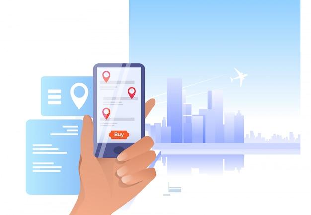 Smartphone de exploração de mão Vetor grátis
