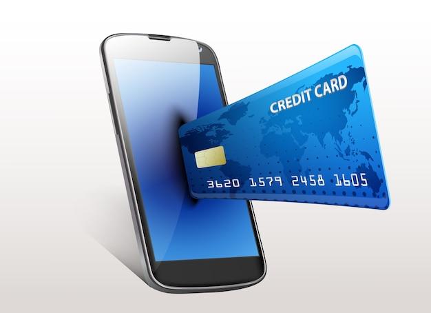 Smartphone do conceito da compra do internet Vetor Premium