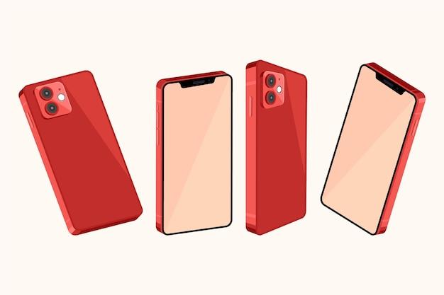 Smartphone em diferentes perspectivas Vetor grátis