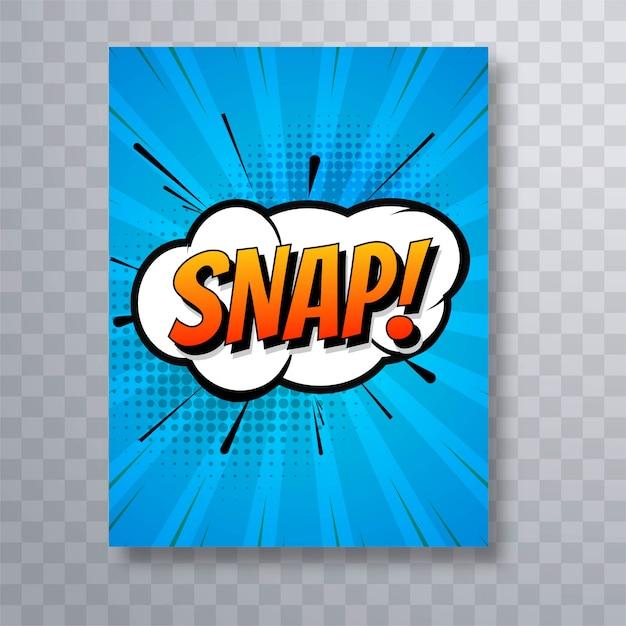 Snap design de modelo de folheto de arte pop em quadrinhos colorido Vetor grátis