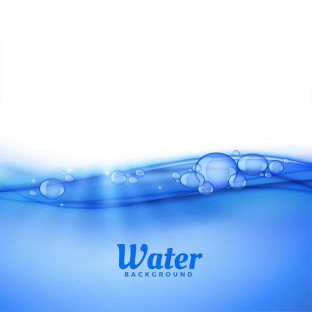 Sob fundo de água com bolhas Vetor grátis