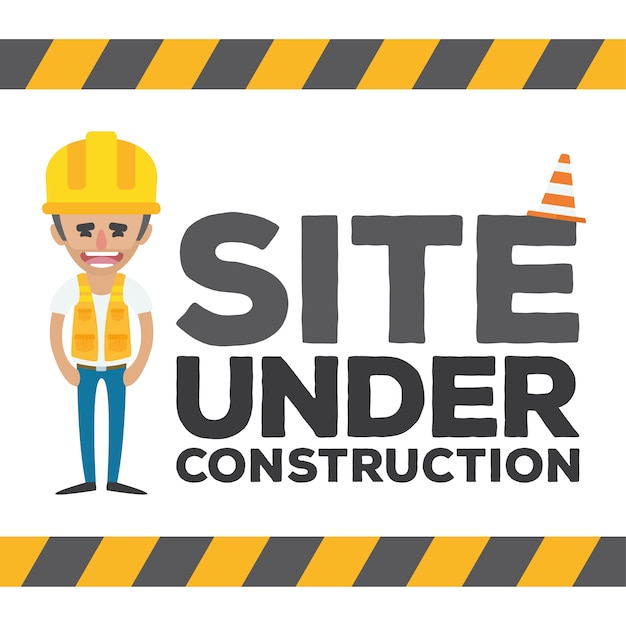 Sob web design construção Vetor grátis