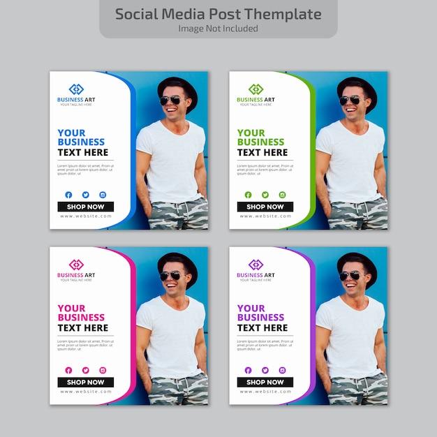 Social media post design Vetor Premium