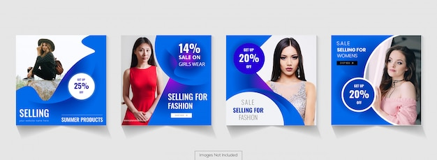 Social media publicidade post design instagram timeline Vetor Premium
