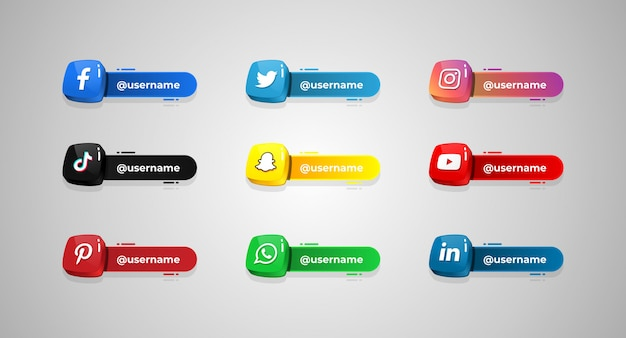Socialmedia_username Vetor Premium