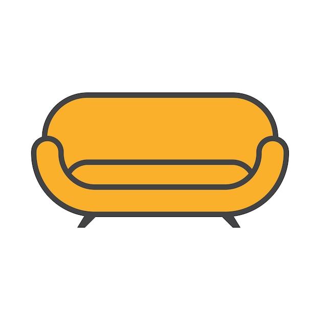 Sofá da casa Vetor grátis