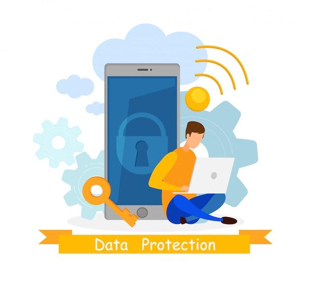 Software de privacidade Vetor Premium