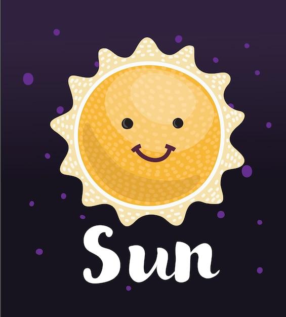 Sol engraçado Vetor Premium