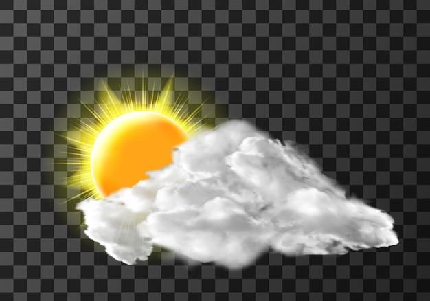 Sol nuvem de luz transparente Vetor grátis