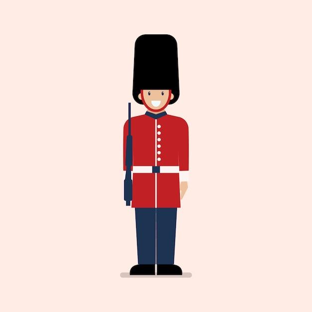 Soldado do exército britânico Vetor Premium