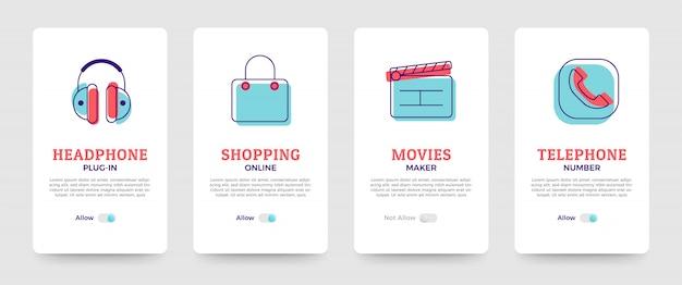 Solução de negócios de design de cartão Vetor Premium