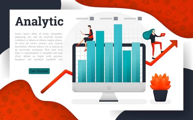 Solução de pesquisa de gerenciamento de negócios de análise Vetor Premium