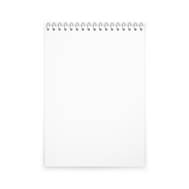 Sombra de maquete vertical notebook Vetor Premium