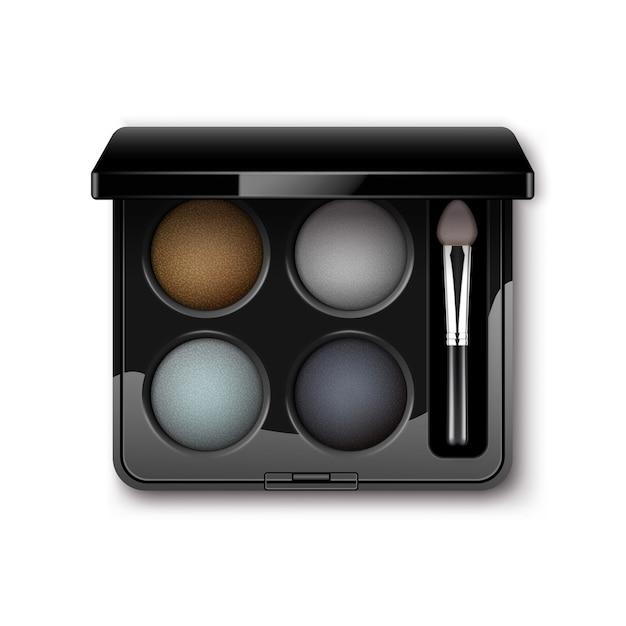 Sombras de olhos redondas multicoloridas claras Vetor Premium