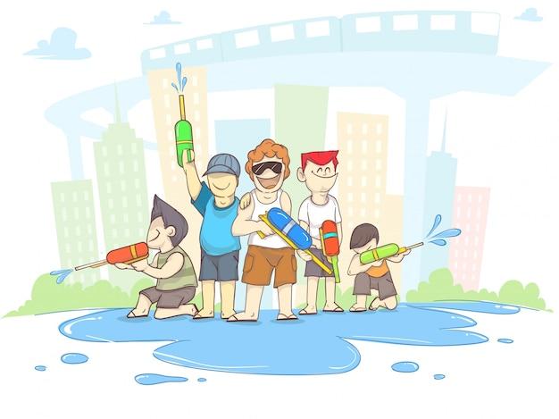 Songkran Vetor Premium