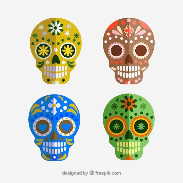 Sorriso do crânio. día de los muertos Vetor grátis
