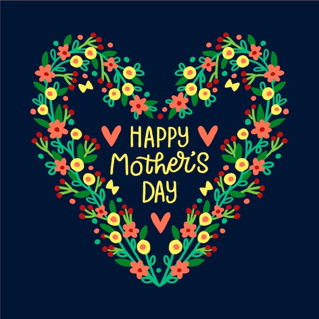 Sorteio de coração para dia das mães Vetor grátis