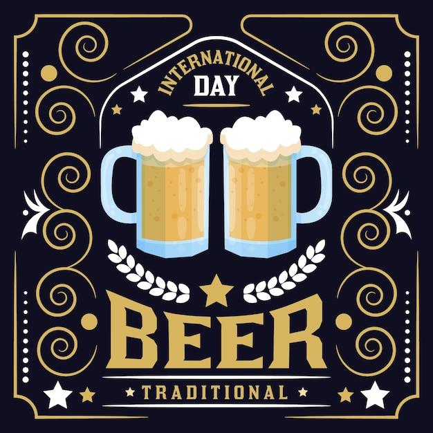 Sorteio do dia internacional da cerveja Vetor grátis