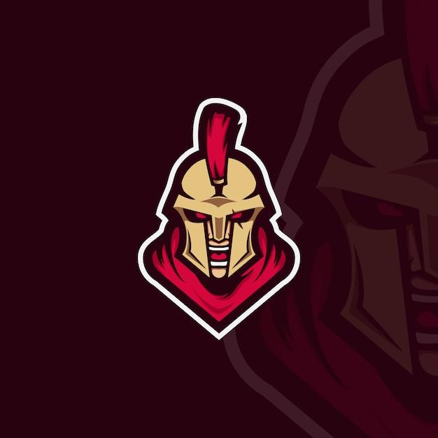 Sparta esport character Vetor Premium