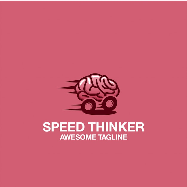 Speed thinker logo design inspirações de inspiração impressionantes Vetor Premium