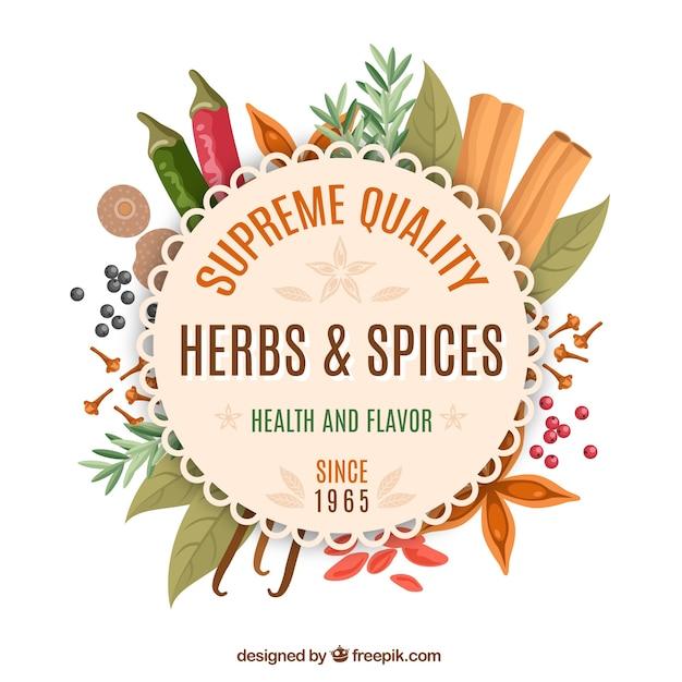 Spices loja emblema Vetor grátis