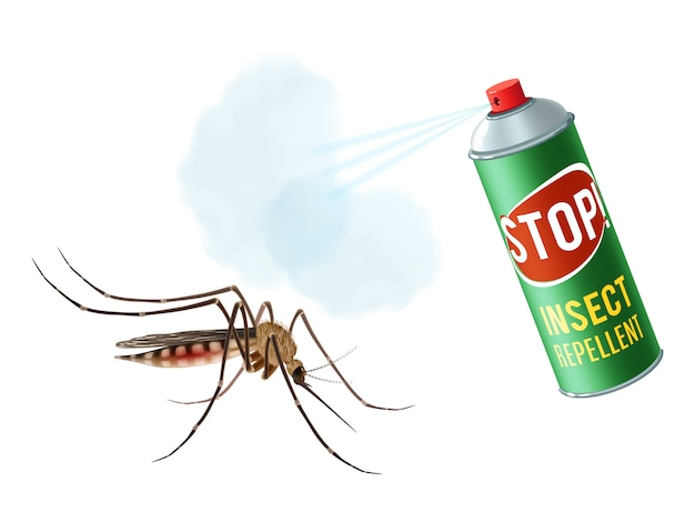 Spray anti mosquito Vetor grátis