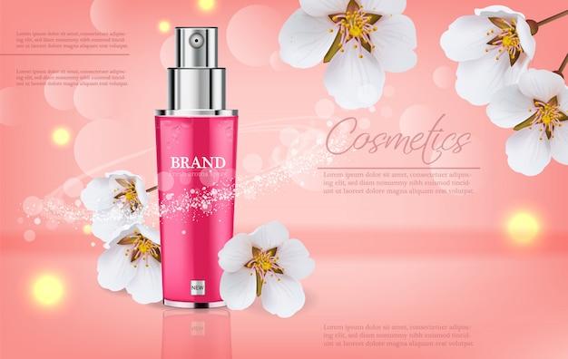 Spray de flor de cerejeira Vetor Premium