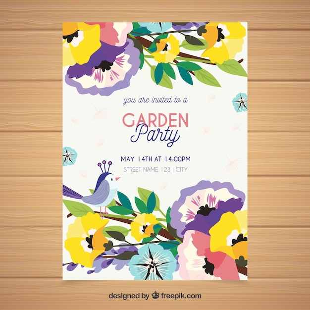 Spring garden party invitation in hand estilo desenhado baixar spring garden party invitation in hand estilo desenhado vetor grtis stopboris Image collections