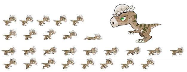 Sprites de jogo de dinossauro Vetor Premium