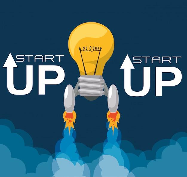 Start up design Vetor Premium