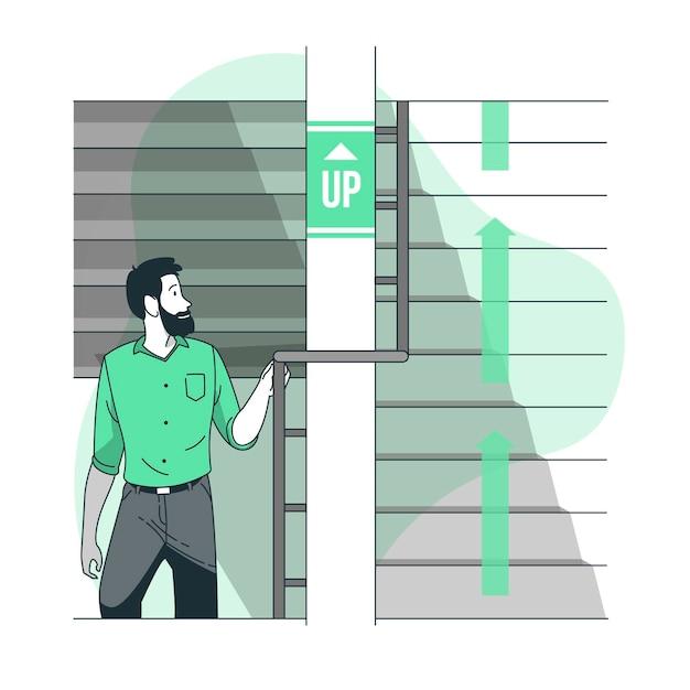 Subindo a ilustração do conceito Vetor grátis