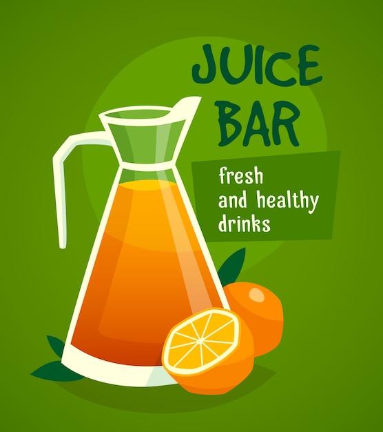 Suco de laranja Vetor grátis