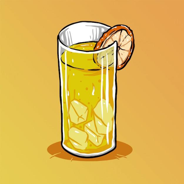 Suco de laranja Vetor Premium