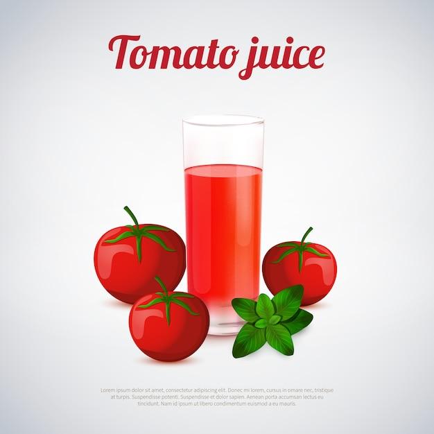 Suco de tomate Vetor grátis
