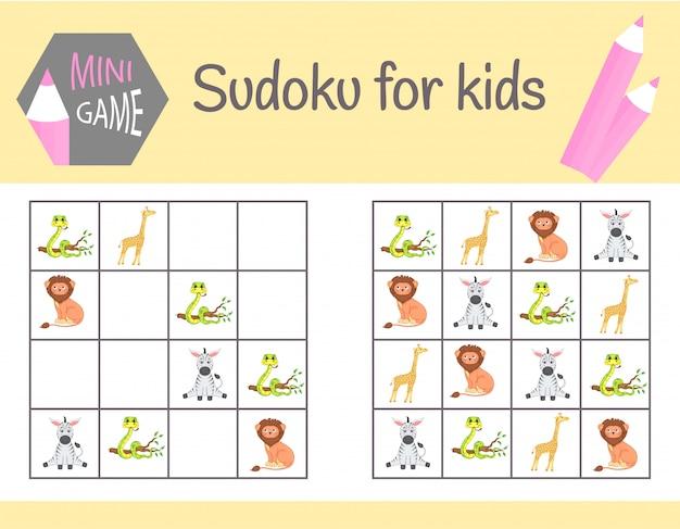 Sudoku jogo para crianças Vetor Premium