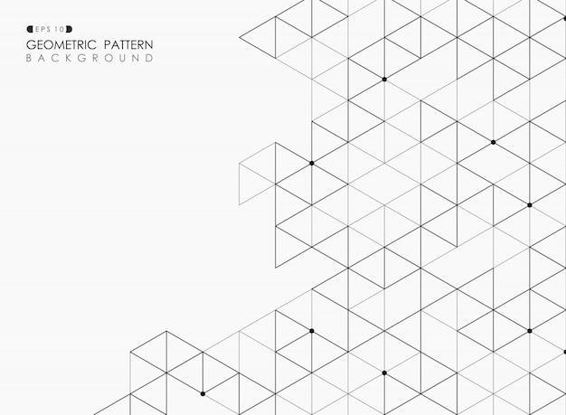 Sumário do fundo pentagonal do esboço da estrutura geométrica do quadrado preto. Vetor Premium