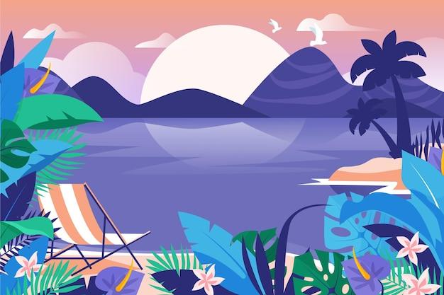 Summer landscape - background para zoom Vetor grátis