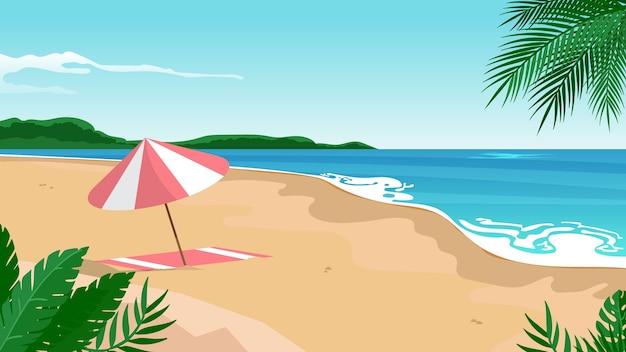 Summer landscape - background para zoom Vetor Premium