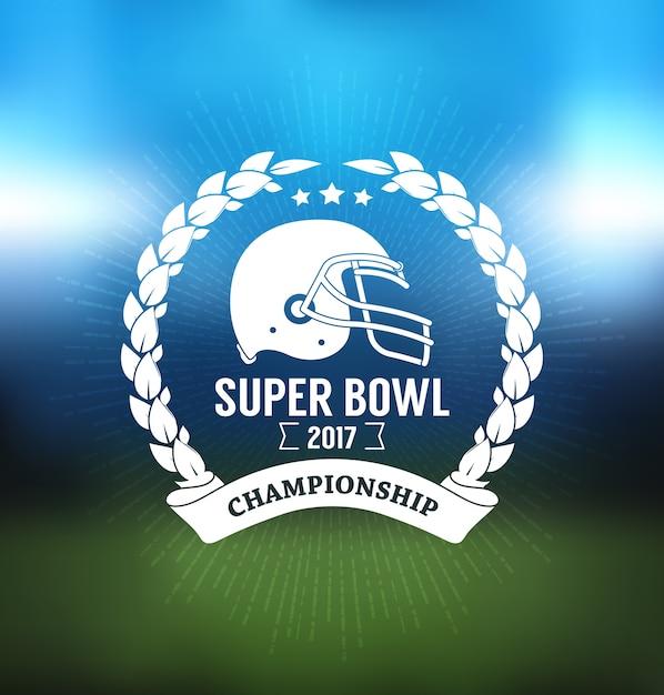 Super bowl championship logo esporte Vetor Premium