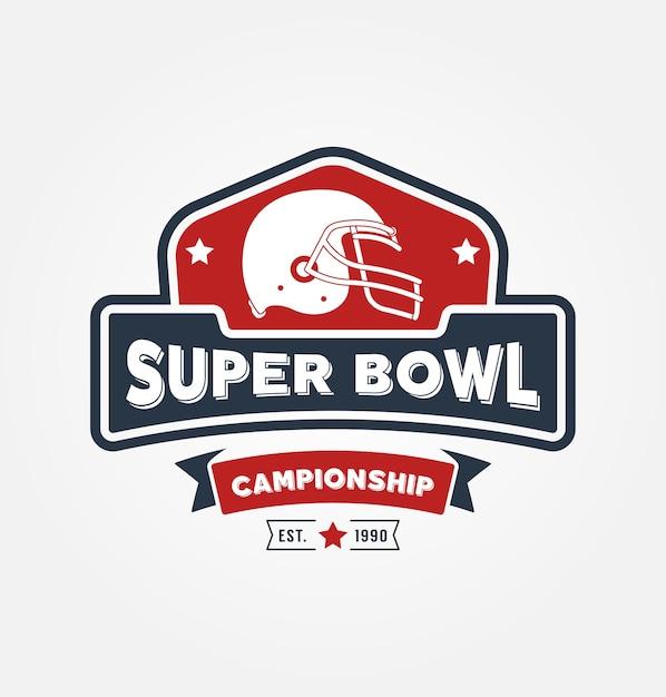 Super bowl championship logo sport design Vetor Premium