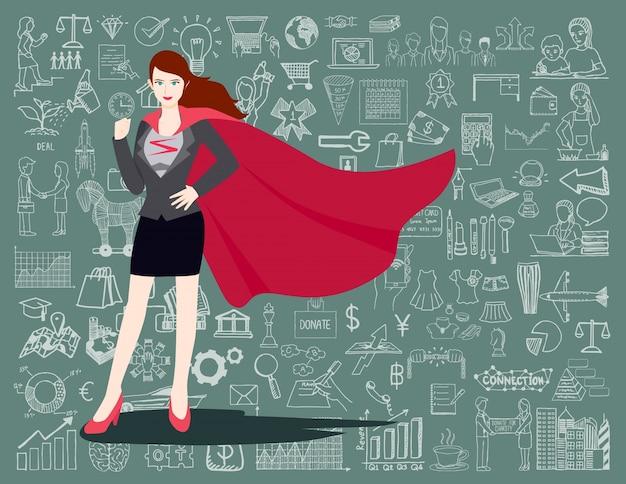 Super fundo de mulher de negócios Vetor grátis